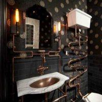 Stately and elegant steampunk bathroom