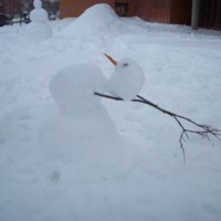 Cirque du Soliel snowmen
