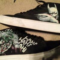 Painted Batman Converse